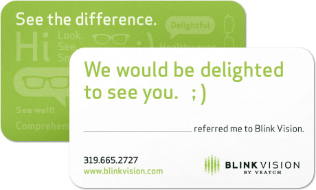 Customer referral card